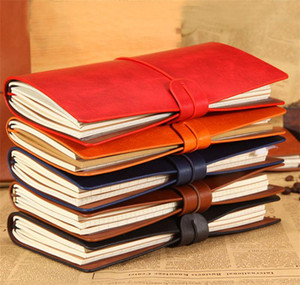 Vintage Leather NOTEBOOK 비즈니스 편지지 6 색 오피스 노트 일기 저널 스케치북 리필 종이 일기장 노트