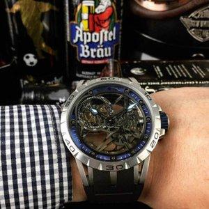 Excalibur king series fashionable men's watch automatic chain movement case: 46 mm Sapphire crystal Carbon titanium alloyman alloy Black DLC coating