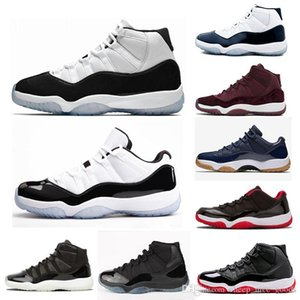 2020 bred 11 basketball shoes concord with 47 11s sneaker shoes cap and gown sport sneakers shoes 9 Dream It Do It UNC space jams size36-48