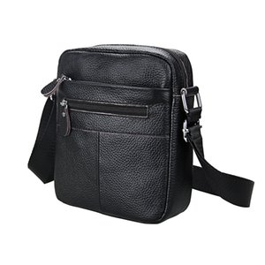 Men's Cowhide Cross Body Messenger Bags Briefcases Genuine Leather Casual Shoulder Bags Travel Hiking Bag Student College Organizer Bag