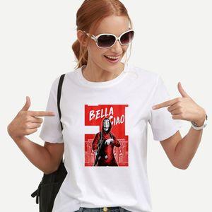 New Money Heist Camiseta The House of Paper La Casa De Papel Camiseta Camiseta Mujer Verano Casual Dali Máscara Casa De Papel Camiseta