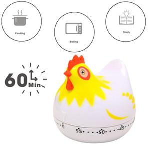 Temporizador mecánico de 60 minutos tiendas de muebles de cocina temporizador de cuenta atrás de dibujos animados Chicken recordatorio temporizador de cocina Accesorios 2 colores