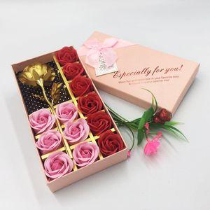 12 fiori artificiali confezione regalo rose regalo di San Valentino simulazione fiore decorazione floreale