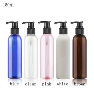 50 adet beyaz kahverengi Plastik Krem Pompa Şişe Doldurulabilir Duş Jel Temizleyici Şampuan Paketi Kozmetik Losyon Şişeler boşaltın 150ml