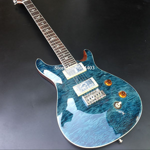 De alta calidad de 6 cuerdas de la guitarra eléctrica, floculante de chapa de arce, diapasón de caoba, caoba, instrumentos musicales, envío libre