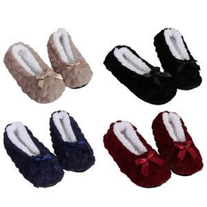 1 Pair Winter Warm Socks Slippers Women Home Floor Shoes Soft Sole Anti-Slip Indoor Thicken Solid Color Slipper Ladies Socks