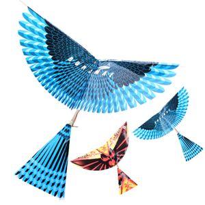 New DIY Outdoor Brinquedos Rubber Band Poder Handmade Bionic Air Plane Ornithopter Aves Modelos Ciência Kite Brinquedos para crianças