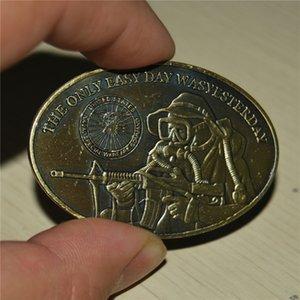 """EUA SELO DA MARINHA DA EQUIPE moeda """"O único dia fácil era ontem"""" Material Latão ordem da amostra envio gratuito de moeda metálica"""