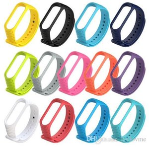 Mi band 3 strap xiaomi mi 3 스마트 밴드 mi3 sports sleep bracelets 액세서리를위한 다채로운 실리콘 교체 손목 스트랩