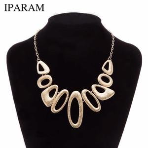 IPARAM 2019 Nuevo collar de metal de moda para mujer párrafo breve collar de clavícula Personalidad geométrica collar de regalo de moda