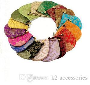 affichage des bijoux en soie chanceux chinois 11x11cm soie Brocade Bijoux Pouch Sac de rangement personnalisé Tissu chinois Emballage cadeau Drawstring