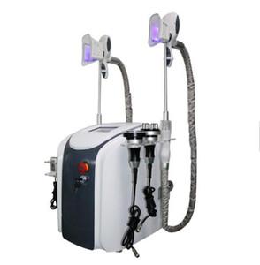 Yeni Profesyonel Yağ Donma Makinesi Bel Zayıflama Kavitasyon RF Makinesi Yağ Azaltma Lipo Lazer 2 Donma Kafaları Çalışma Simully
