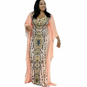 Women Long Dress Retro Leopard Gestures Print Ladies Autumn Summer Lots Simple Casual Party Elegant Maxi Dresses 2019