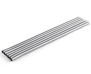 Прочная нержавеющая сталь прямой питьевой соломы соломы соломы металлический стержень семьи кухня диаметр 6 мм DHL FEDEX