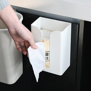 Hot Sale Household Multifunctional Paste-type Tissue Box Kitchen Seamless Wall-mounted Tissue Holder Toilet Tissue Storage Box