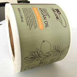 Maßgeschneiderte Hautpflege Vinyl wasserdicht matt gedruckt Label Aufkleber personalisierte Rollenverpackung Vinyl Kunststoff Aufkleber