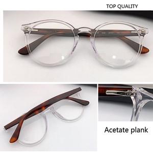 2020 designer de marca quadro legal da Rodada Óculos Homens Mulheres prancha Óculos vintage Feminino Optics Óculos Limpar Lens retro espetáculo círculo