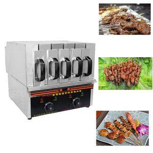 Parrilla eléctrica Parrilla sin humo de Kebab del horno del kebab del cordero de 220V Commercial Grill sin humo