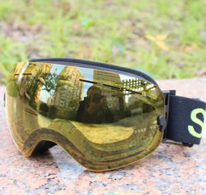 Большие сферические лыжные очки однослойные карты близорукость профессиональный анти туман лыжные очки для мужчин и женщин с покрытием UV400 однослойные