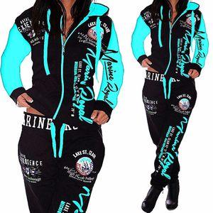 Homens / Conjuntos de roupas femininas Hoodies Calças 2 Piece Set Quente senhoras impressas Mulheres roupas combinando terno dos homens / mulheres Treino