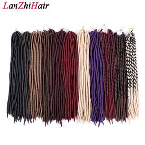 18 pollici Dea Faux locals Crochet Hair Treids Estensione dei capelli sintetici naturali 24 supporti / pacco resistente al calore resistente