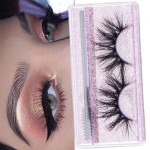 1 Pair Dramatic 3D Mink False Eyelashes 25mm Wispy Fluffy Eye Lashes Thick Long Mink Lashes Handmade Eyelash Makeup Tools
