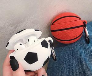 Capas para desenhos animados AirPod 2 capa Futebol Basquete 3D Football Baseball suave silicone fone de ouvido para a Apple Airpods Caso 1pcs bonito Capa Funda