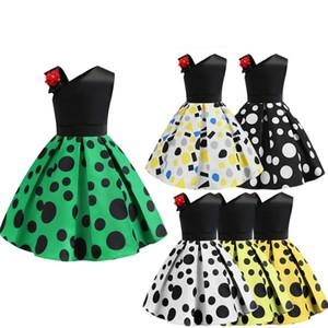 2019 cross-border dedicated wave dress princess European and American printed children's dress hot sale print skirt