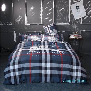 Cama Designer Clássico Define Moda Queen Size lençóis de luxo 4pcs conjuntos de cachecol Tampa América Popular roupa de cama