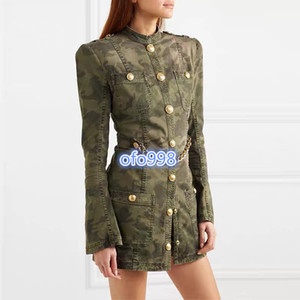 high end women girls shirt dress covered color camouflage print womens long sleeve a-line mini tight skirt fashion design luxury dresses