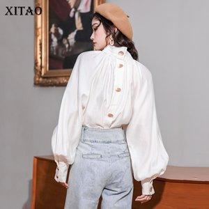 Xitao 2020 della molla nuove donne top e camicie Vintage Court stile Minority camicia bianca modo donne eleganti vestiti DMY2460