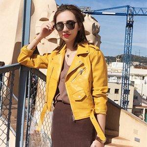 Autumn Short Faux Leather Jacket Women 2020 Basic Jacket Fashion Zipper Soft Motorcycle PU Leather Ladies Street Coat