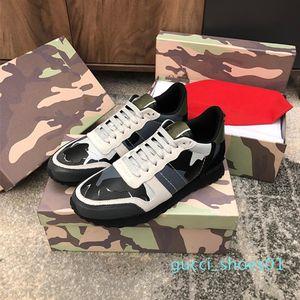 De calidad superior 2019 de lujo para hombre del diseñador ocasional Mujeres Rockrunner zapatillas Camoufalge Con Estrella des chaussures Zapatos Schuhe entrenadores G1