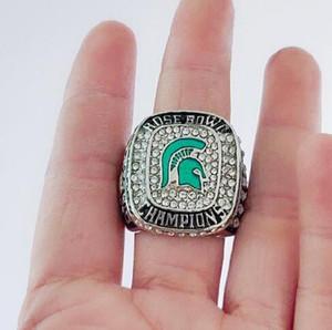 Belas comemorar Anéis Michigan State Spartans 2013 Rose Bowl e uma recordação Big Ten Campeões Anel Homens Fan presente Drop Shipping