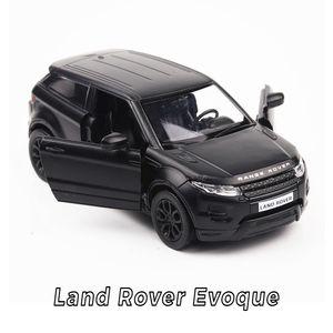 Hot 1:36 ruote scala simulazione modellini auto Land Rover evoque modello in metallo tirare indietro lega giocattoli collezione per bambini regali