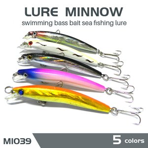NEWUP 5PC 5g High Quality Minnow Pescaria Fishing Lure 3D Eye Bass Topwater Hard bait crankbait wobblers Lure for fishing tackle