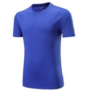 JUNJIAN Мужские футболки Quick Dry дышащий Фитнес футболки Мужчины Джерси спортом Бег Рубашка Slim Fit Мужские футболки Running