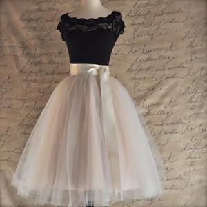 26 Couleurs 5 Longueur 65cm genou Layered Tulle Jupe Tutu Femmes Jupe plissée taille haute cosplay Petticoat Ceinture élastique Faldas