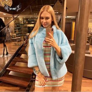 معطف سترات حزب اللباس البدلة الدافئة Befree الشتاء المرأة بارك مع الفراء الطبيعي قصيرة المنك معطف بلت كاملة