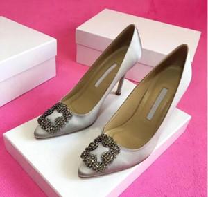 Zapatos zapatos de boda de la venta caliente-Designer novia de fiesta de las señoras de la manera atractiva de las sandalias de vestir punta estrecha del brillo de los altos talones del cuero