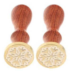 2x Xmas Snowflake Engraved Seal Wax Sealing Stamp For Envelope Card #11