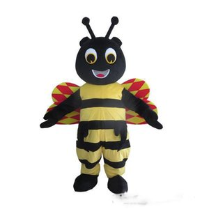2019 hot new Custom Honeybee Mascot Costume Adult Size Costume With A Mini Fan Inside Head For Commercial Advertising