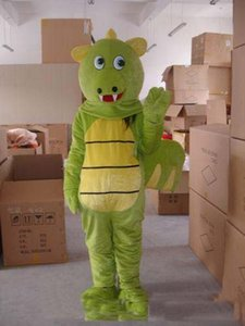 2019 Hot sale Green dragon adult size mascot costume suit fancy dress