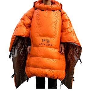Astagear pequeña pluma edredón saco de dormir del pato abajo para dormir para acampar sin fondo bolsa