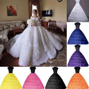 2020 Ball Gown 6 Hoops Petticoat Wedding Crinoline slittamento nuziale del Underskirt Layes slip 6 del cerchio gonna per Quinceanera CPA206