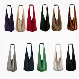 2020 New Estelle Wang Retro Hobos große Kapazitäts-Flanell Messenger Bags Fashion Red Velvet Cloth Handtaschen-Riemen-Beutel für Frauen
