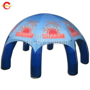 Frete grátis porta pvc lona impermeável inflável tenda de aranha para venda, impressão do logotipo tenda estrela inflável com as pernas