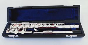 La meilleure qualité Taiwan Jupiter Flute JFL-511ES 17 ouvert C Tune instrument de musique Flûte traversière Flûte E-Key musique professionnelle Livraison gratuite
