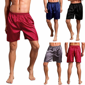 Plus Size Mens raso di seta Pajamas Shorts Sleepwear Loungewear pigiama