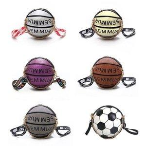 Basketball Football En Forme D'épaule Messenger Sac Bourse À Main Mini Bandoulière PU Sac À Main Bandoulière Réglable Pour Femmes Filles Hommes